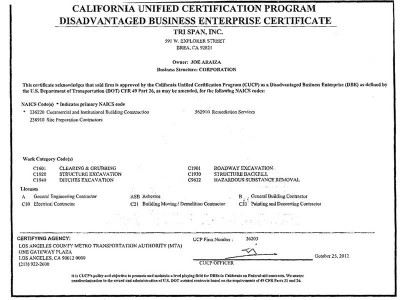 California Unified Certification Program