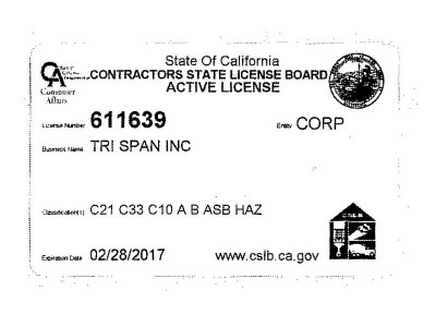 Contractors State License Board Active License